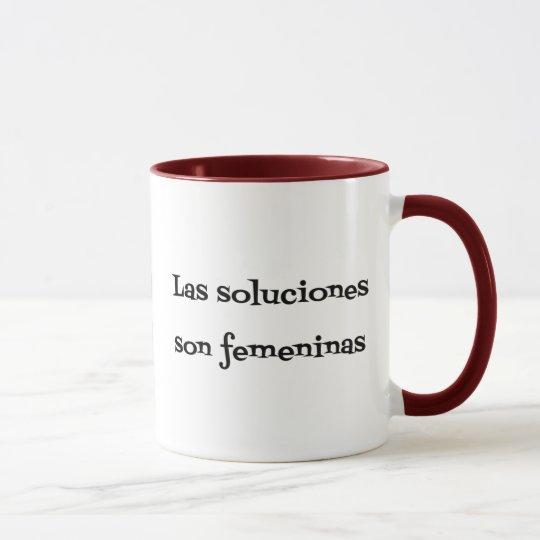Spanish problemas soluciones phrase mug