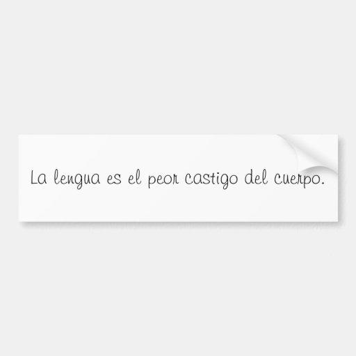 Spanish Quotes Bumper Sticker