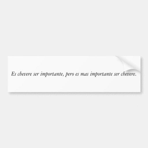 Spanish Quotes Bumper Stickers
