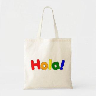 Spanish Rainbow Hello : Espanol Iris Hola Budget Tote Bag