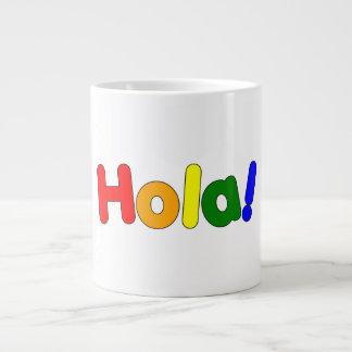 Spanish Rainbow Hello : Espanol Iris Hola Jumbo Mug