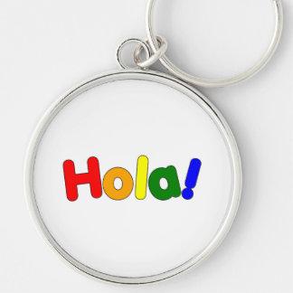 Spanish Rainbow Hello : Espanol Iris Hola Silver-Colored Round Key Ring