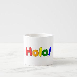 Spanish Rainbow Hello Espanol Iris Hola Espresso Mugs