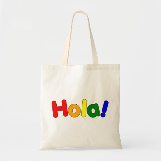Spanish Rainbow Hello : Espanol Iris Hola Tote Bag