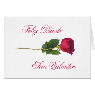 Spanish red rose-Valentine s day Card