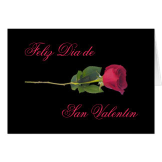 Spanish: red rose-Valentine's day Cards