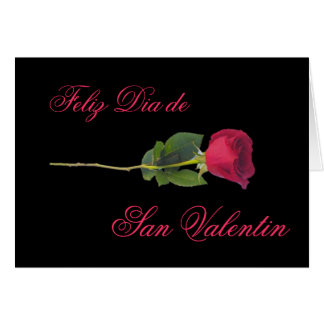 Spanish: red rose-Valentine's day Greeting Card