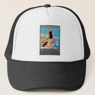Spanish Resort Poster Trucker Hat