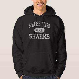 Spanish River - Sharks - High - Boca Raton Florida Hoodie