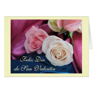 Spanish San Valentin seda y rosas Cards