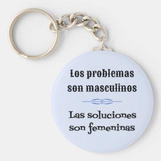 Spanish saying language learning basic round button key ring