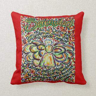 Spanish Serenity Prayer Angel Decorative Pillow Throw Cushion