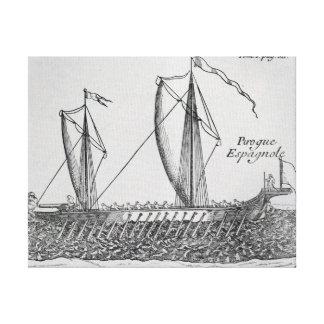 Spanish Ship' Canvas Print