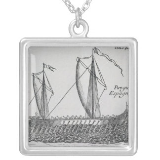 Spanish Ship' Silver Plated Necklace