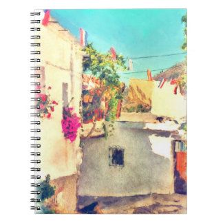 Spanish Side Street Watercolor Notebooks