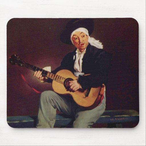 Spanish singer - Edouard Manet Mouse Pads