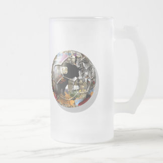 Spanish Soccer ball - Culture & football can mix ! Frosted Glass Mug