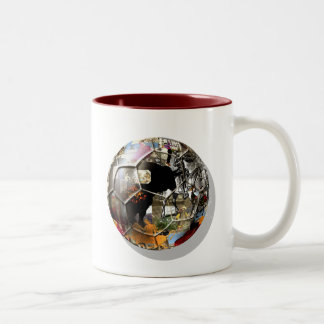 Spanish Soccer ball - Culture & football can mix ! Two-Tone Mug