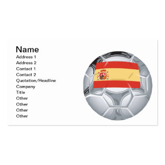 Spanish Soccer Ball Pack Of Standard Business Cards