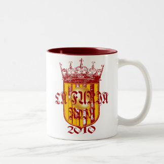 Spanish soccer futbol kings - La Furia Roja 2010 Two-Tone Mug