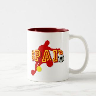 Spanish Soccer Players Bend it Tees and gifts Two-Tone Mug