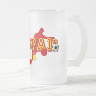 Spanish Soccer Players Bend it Tees and gifts Frosted Glass Mug