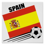 Spanish Soccer Team Poster