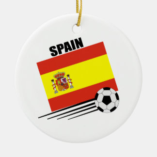 Spanish Soccer Team Round Ceramic Decoration
