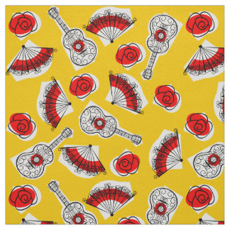 Spanish Souvenirs fabric small print