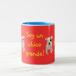 Spanish: Soy un chico grande! Two-Tone Mug