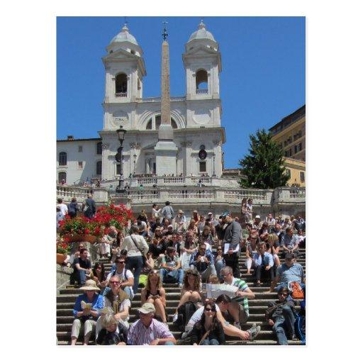 Spanish Steps, Rome, Italy Postcard