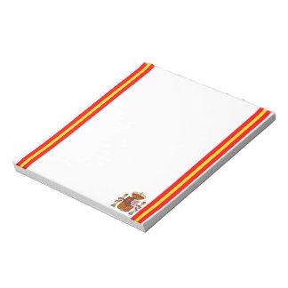 Spanish stripes flag notepad