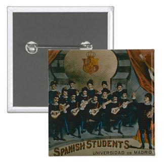 'Spanish Students, University of Madrid' (colour l 15 Cm Square Badge