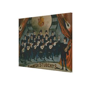 'Spanish Students, University of Madrid' (colour l Canvas Print