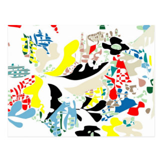 Spanish summer abstract postcard