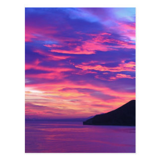 Spanish Sunset in Variety of Hues Postcard