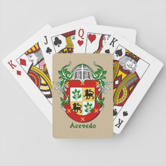 Spanish Surname Acevedo Shield and Mantle Playing Cards