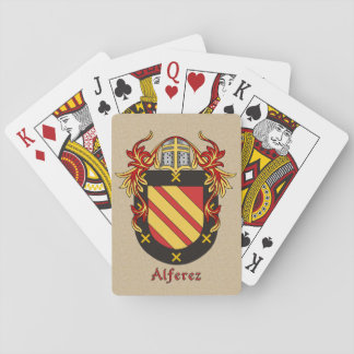 Spanish Surname Alferez Shield and Mantle Playing Cards