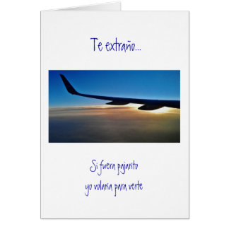 Spanish: Surprise trip/ Viaje sorpresa Greeting Card
