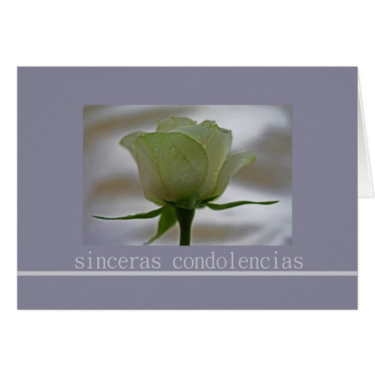 spanish Sympathy card, sinceras condolencias Card