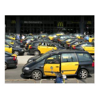 Spanish Taxi rank post card