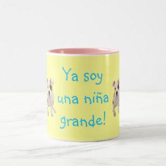 """Spanish: Taza """"Ya soy grande"""" con nombre personal Coffee Mugs"""