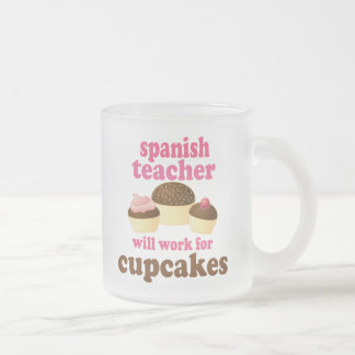 Spanish Teacher (Funny) Gift Frosted Glass Coffee Mug