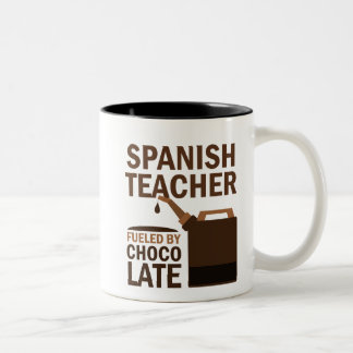 Spanish Teacher (Funny) Gift Two-Tone Coffee Mug