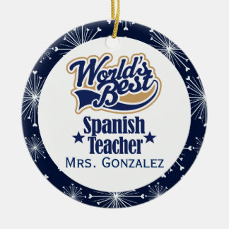 Spanish Teacher Personalized Gift Ornament