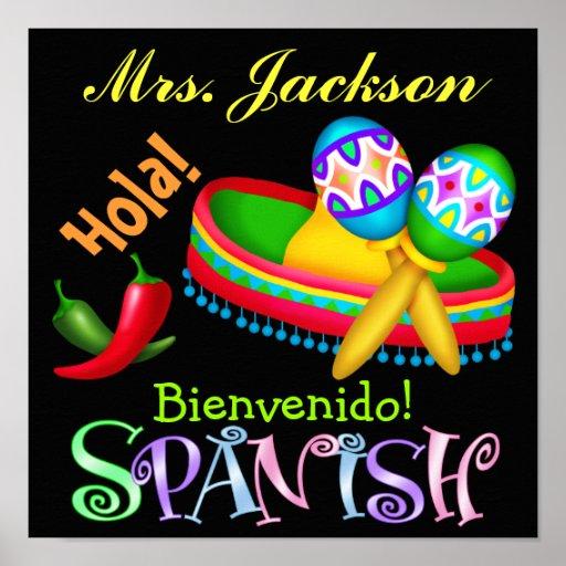 Spanish Teacher Poster / Sign - SRF