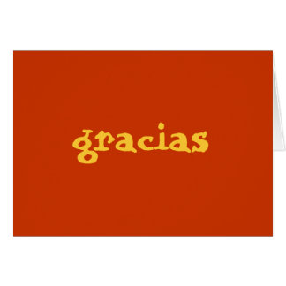 spanish thank you note card