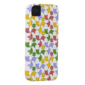Spanish Tile Mosaic Pattern - White iPhone 4 Case