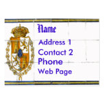 Spanish Tile Mural Card Pack Of Chubby Business Cards