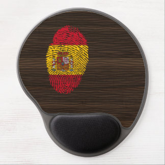 Spanish touch fingerprint flag gel mouse mat